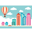 City with houses and office buildings vector image vector image