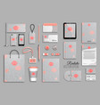 corporate identity template set with funky hand vector image