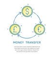 currency exchange logo vector image vector image