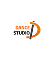 dance studio letter d icon vector image vector image