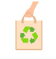 eco bag flat style front vector image vector image