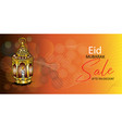 eid mubarak web banner sale vector image vector image