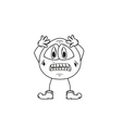 emoticon panic sketch vector image vector image