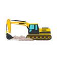 excavator flat vector image