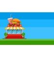 Fast food cafe flyer or banner vector image vector image