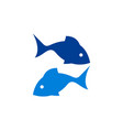 fish blue logo icon vector image vector image