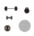 fitness tool flat icon vector image vector image