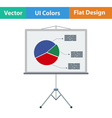 Flat design icon of Presentation stand vector image vector image