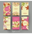 floral abstract brochure template Flyer vector image