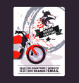 flyer with contact biker festival and motorshow vector image