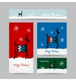 Funny goat santa Christmas cards design vector image vector image