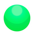 green candy ball icon isometric style vector image vector image