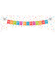 happy birthday banner birthday party flags with vector image vector image