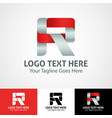 hi-tech trendy initial icon logo r vector image