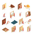 home renovation isometric icons vector image vector image