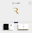 initial r luxury logo template and business card vector image