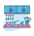 Kitchen utensils traditional object element vector image