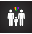 lgbt male plus male family on black background vector image