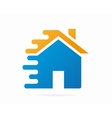 logo house in motion vector image