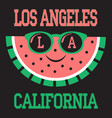 los angeles athletics typography stamp california vector image vector image