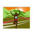 marathon race finisher vector image vector image