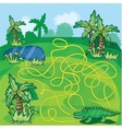 Maze game with crocodile vector image vector image