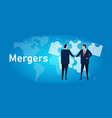 mergers corporate and acquisitions two company vector image vector image