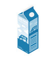 milk box isolated on white background isometric vector image