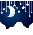 moon star and cloud paper vector image vector image