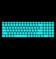 neon keyboard on black background modern vector image vector image