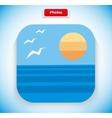 Photo App Icon Flat Style Design vector image