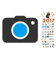Photo Camera Icon With 2017 Year Bonus Pictograms vector image