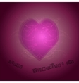 Pink Heart Shape With Background vector image