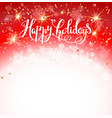 red holiday card vector image