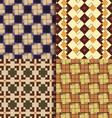 Retro square patterns background vector image