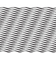 seamless black and white wavy lines vector image