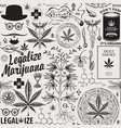 seamless pattern for marijuana legalization vector image vector image