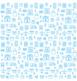 seamless pattern with online shopping icons in vector image vector image