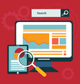 SEO concept in flat style vector image