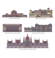 set european parliament buildings in thin line vector image vector image