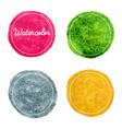 set multicolor watercolor hand drawn circles vector image vector image