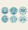 set of 6 labels or badges for packing vector image