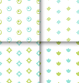 Set Seamless Pattern with Geometric Texture vector image vector image