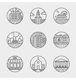set thin icons design set moder simple vector image