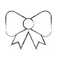 sketch draw bow cartoon vector image vector image