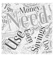 SM how to save your money Word Cloud Concept vector image vector image
