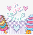 so fresh summer popsicles vector image vector image