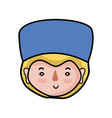 specialist man head with medical hat vector image vector image