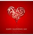 st valentine greeting card design vector image vector image