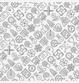 start up seamless pattern with thin line icons vector image vector image